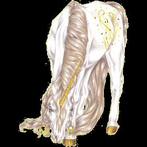 Einhorn-Reitpferd Araber Dunkelfuchs