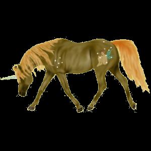 Einhorn-Reitpferd Araber Fuchs