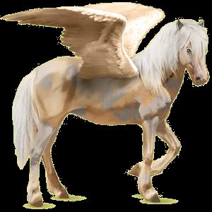 Pegasus-Reitpferd Isländer Cremello