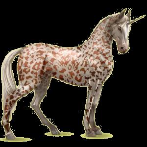 Einhorn-Reitpferd Marwari Fuchs mit heller Mähne