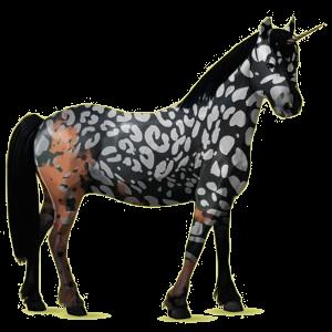 Einhorn-Pony Haflinger Fuchs mit heller Mähne