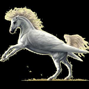 Pegasus-Reitpferd Andalusier Hellgrau