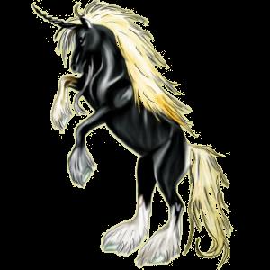 Einhorn-Pony Deutsches Reitpony Brauner
