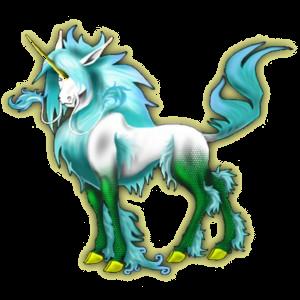 Einhorn-Reitpferd Araber Hellgrau