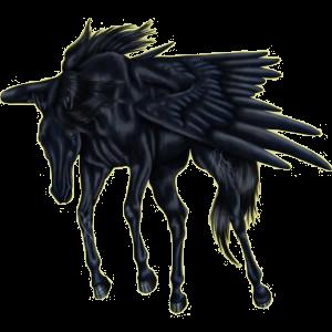 Pegasus-Reitpferd Mustang Roan