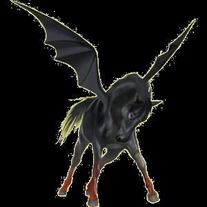 Pegasus-Reitpferd Paint Horse Brauner mit Tovero-Scheckung