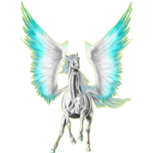 Pegasus Paint Horse Rappe mit Tobiano-Scheckung