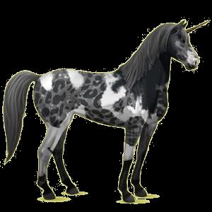 Einhorn-Reitpferd Mustang Mausgrau