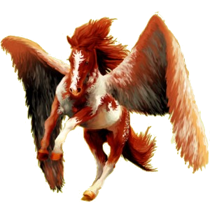 Pegasus-Reitpferd Paint Horse Falbe mit Tobiano-Scheckung