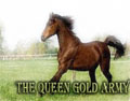 the queen gold army
