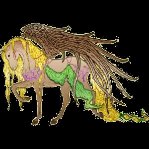 Pegasus-ponny Connemara Fux
