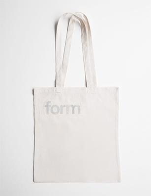 form Stofftasche silber
