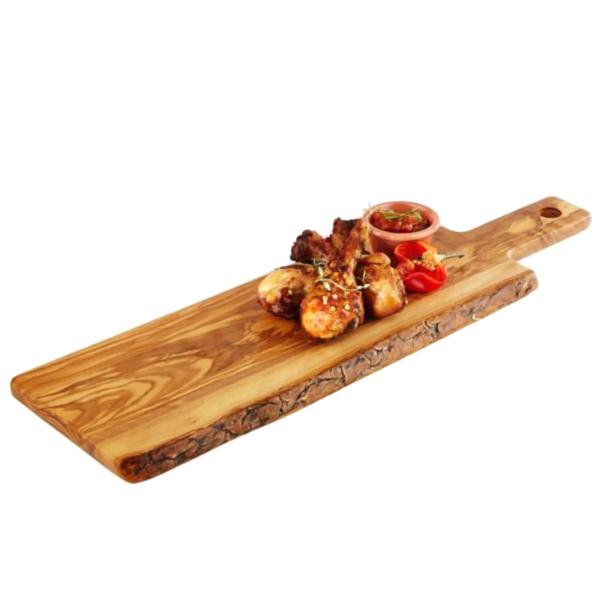 """Serveringsbräda """"Olive"""" av trä 56x22cm H:2cm"""
