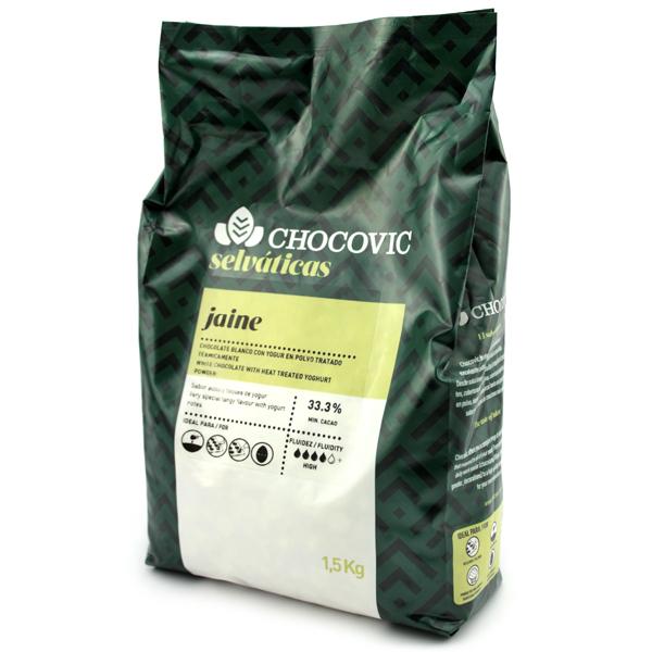 Choklad Vit Jaine Pellets 32,3% 1,5KG Chocovic