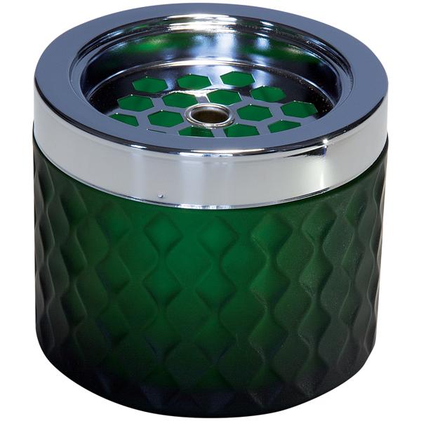 Askkopp Grön Glas H:8cm 562