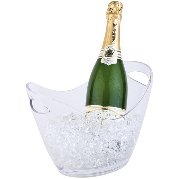 Företagsjulklappar - Vin & Champagnekylare Transparant 3L 36052