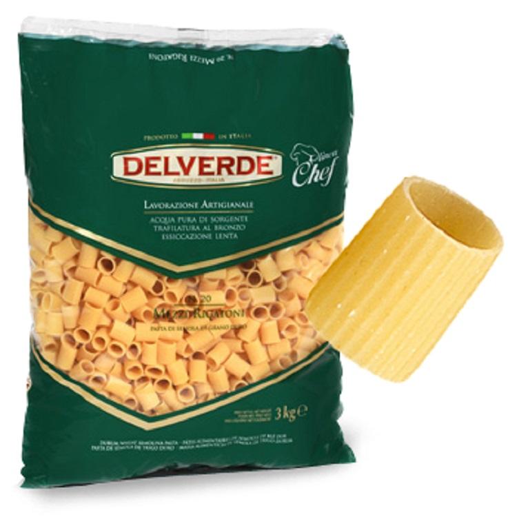 Pasta Delverde Mezzi Rigatoni 3KG