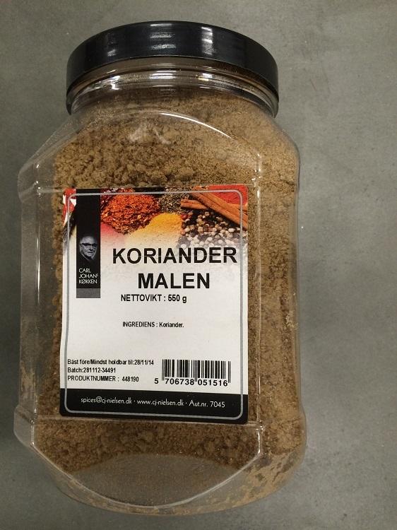 Krydda Koriander Malen 550G Nielsen
