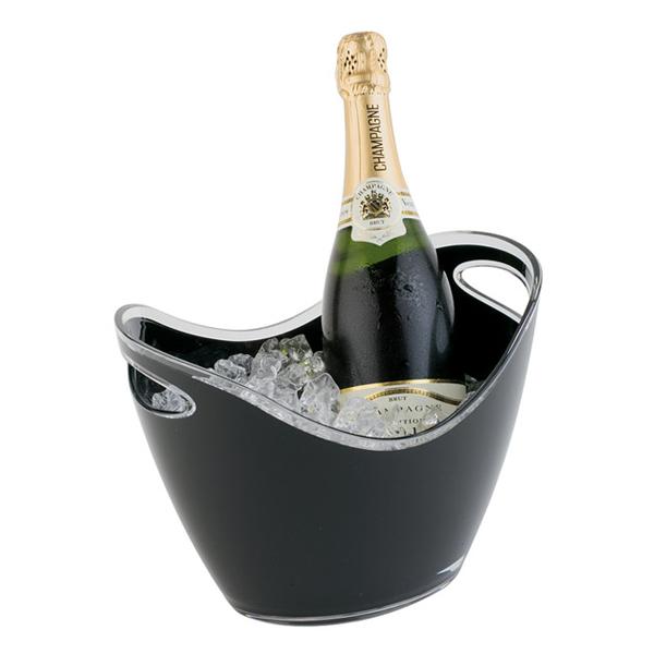 Företagsjulklappar - Vin & Champagnekylare Svart 3L 36053