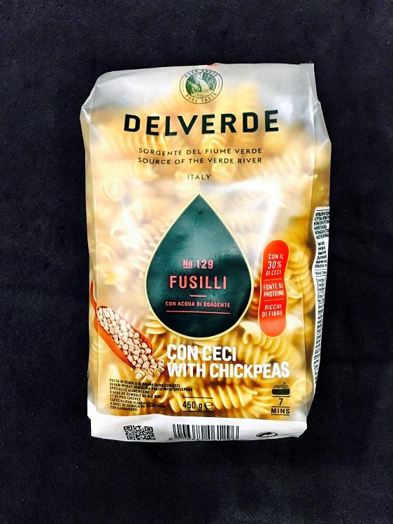 Pasta Delverde Fusilli m Kikärtor 450G