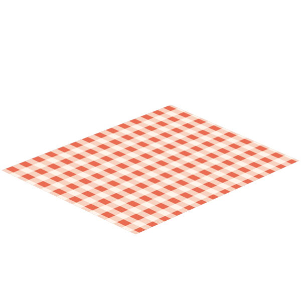 Fettresistenta pappersark Rödrutiga 500st