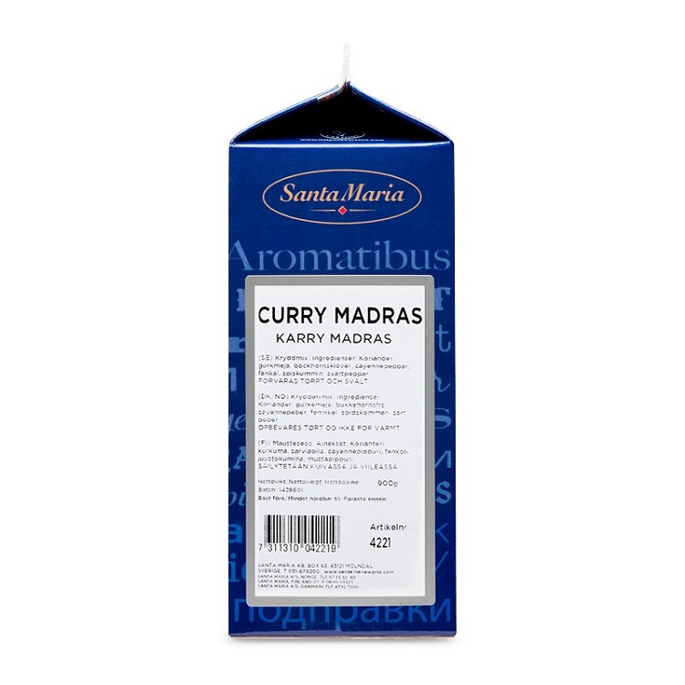 Krydda Curry Madras 435G Santa Maria