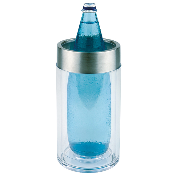 Företagsjulklappar - Flaskkylare Dubbelvägg Transparant 36050