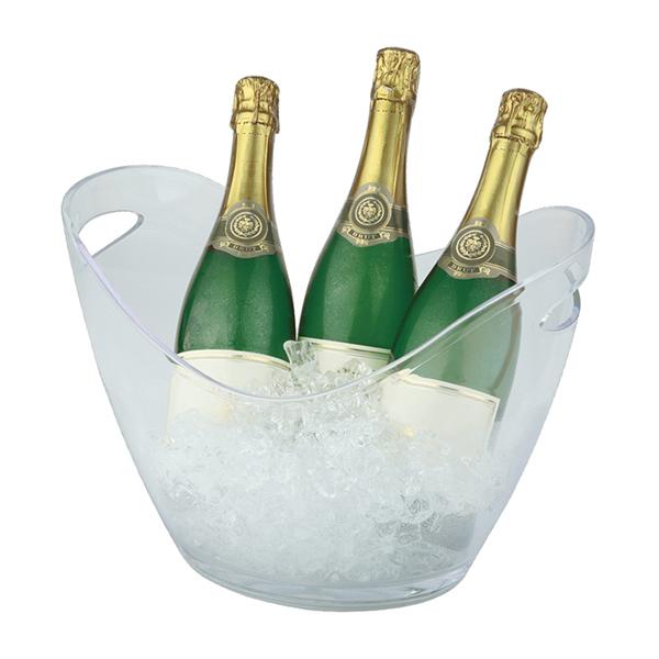 Företagsjulklappar - Vin & Champagnekylare Transparant 6L 36048