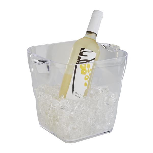 Företagsjulklappar - Vin & Champagnekylare Transparant 4,5L 36081