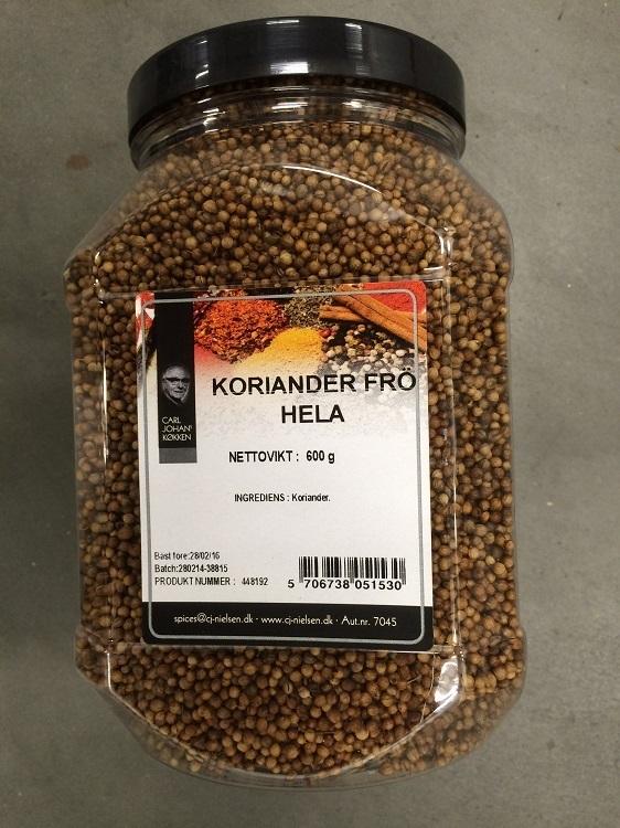 Krydda Korianderfrö Hel 600G Nielsen
