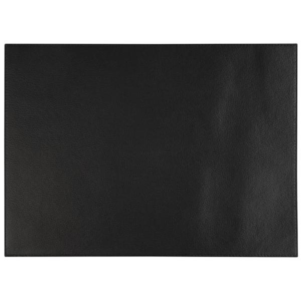 Tablett Av Konstläder Svart 32,5x45cm
