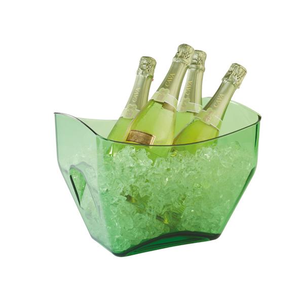 Företagsjulklappar - Vin & Champagnehink Grön 7L 36088