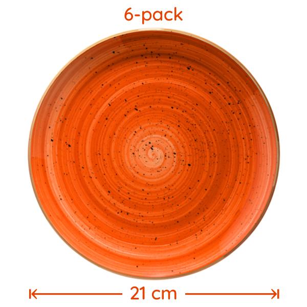 Tallrik Terracotta 21cm 6-Pack