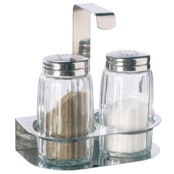 Företagsjulklappar - Salt & pepparställ 2 delad med rostfritt ställ