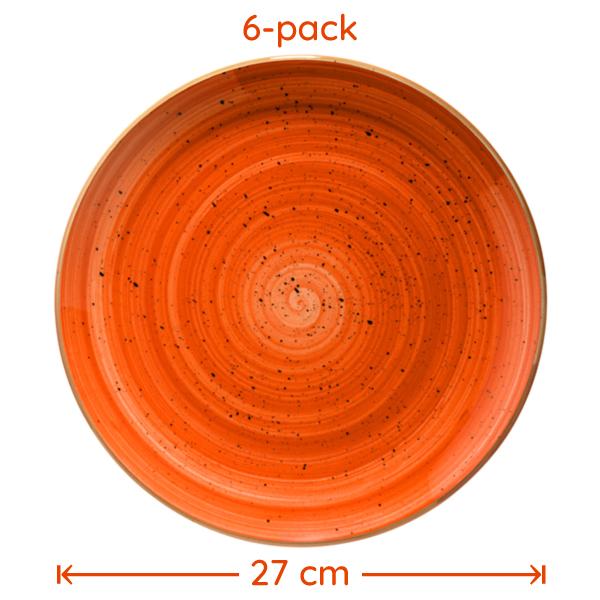 Tallrik Terracotta 27cm 6-pack