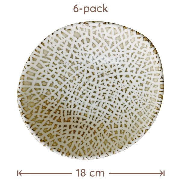 Bonna Lapya Wood Skål D:18cm 6-Pack