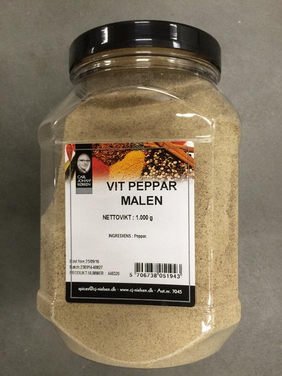 Krydda Vitpeppar Malen 1KG Nielsen