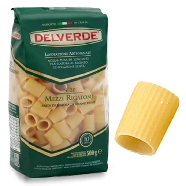 Pasta Delverde Mezzi Rigatoni 500G