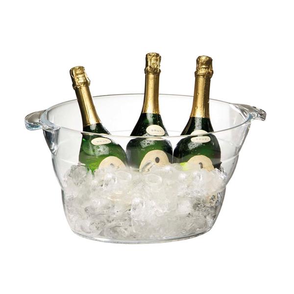 Företagsjulklappar - Vin & Champagnekylare Transparant 10L 36057