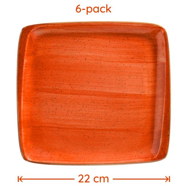 Tallrik Terracotta 22x20cm 6-Pack