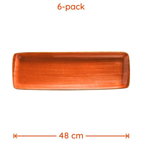 Företagsjulklappar - Tallrik Terracotta 48x16cm 6-Pack***