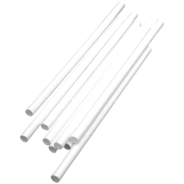 Företagsjulklappar - Papperssugrör Vita Ø 8 x 200 mm 325st/fp