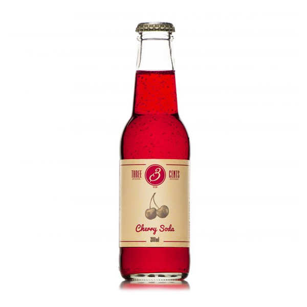Företagsjulklappar - Three Cents Cherry Soda 20CL/24-Pack