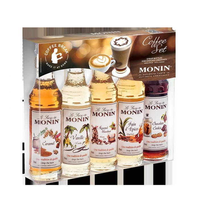Företagsjulklappar - Monin Kaffeset 5x5cl Sortimentslåda