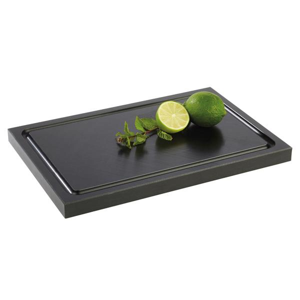 Bargrossisten - Skärbräda med non-slip tassar, svart, 30x20cm, 2cm tjock