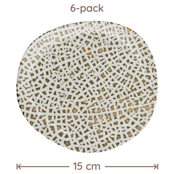 Bonna Lapya Wood Assiette D:15cm 6-Pack