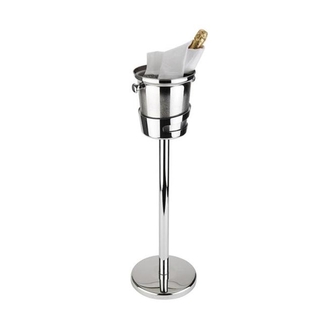 Företagsjulklappar - Vin & Champagnestativ Rostfri 73cm 36069