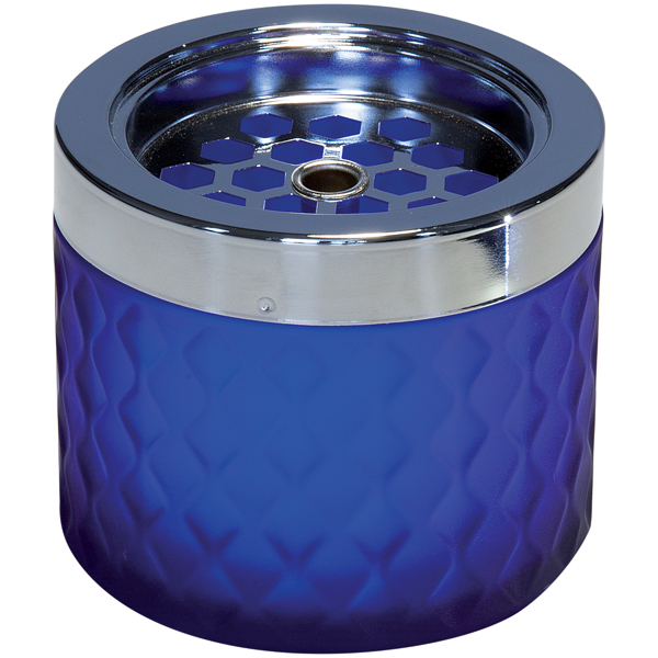 Askkopp Blå Glas H:8cm 563