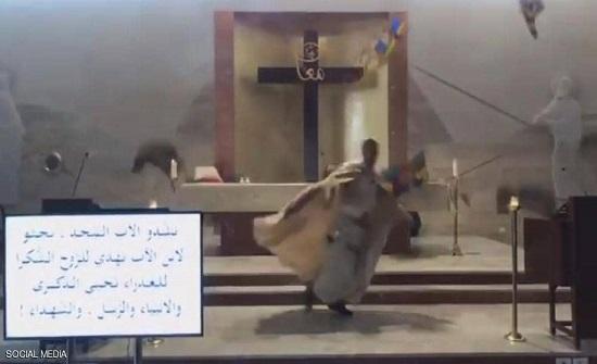 فيديو لما فعله انفجار بيروت في كنيسة