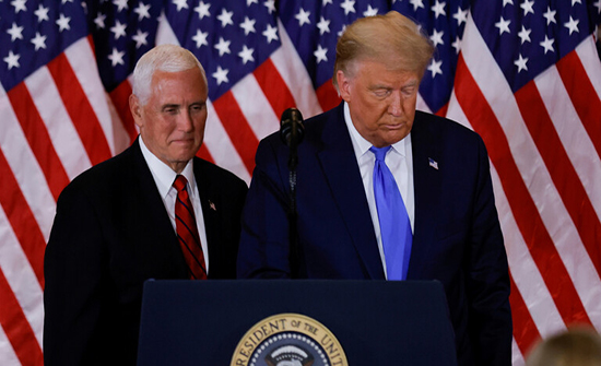 """خلال لقاء بينهما.. ترامب وبينس يتعهدان بالعمل  """"حتى نهاية"""" ولايتهما"""